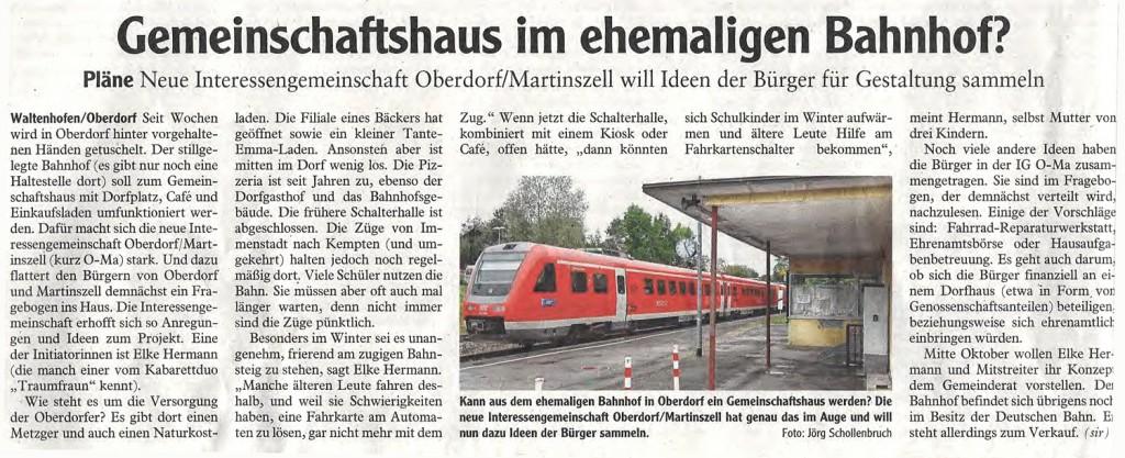 Allgäuer Zeitung vom 2. Oktober 2013